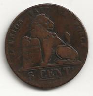 BELGIQUE - 5 Centimes - 1837 - TB/TTB - 03. 5 Centimes