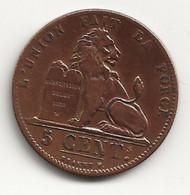 BELGIQUE - 5 Centimes - 1847 - TB/TTB - 03. 5 Centimes