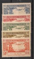Niger - 1940 - Poste Aérienne PA N° Yv. 1 à 5 - Série Complète - Neuf Luxe ** / MNH / Postfrisch - Nuovi