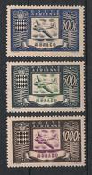 Monaco - 1949 - Poste Aérienne PA N°Yv. 42 à 44 - Série Complète - Neuf Luxe ** / MNH / Postfrisch - Airmail