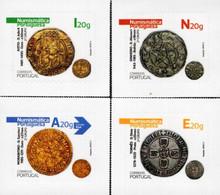 Portugal - 2021 - Numismatics II - Historical Coins - Mint Self-adhesive Stamp Set - Nuevos
