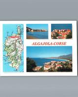2B- Haute Corse - Algajola  - Cpm - Multivues 3 Et Carte De La Corse - Altri Comuni