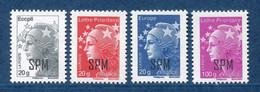 SPM - Année 2012 Série N° 1026** à 1029** - Nuevos