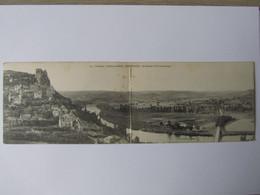 Castelnaud, Dordogne, Près De Sarlat, Le Château Et Vue Panoramique (carte Double) - Otros Municipios