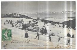 Le Revard En Hiver Skieurs Au Fond : Le Mont Blanc - Unclassified
