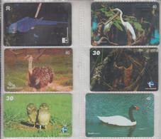 BRASIL 2000 BIRDS HERON SWAN OWL GREATER RHEA - Altri