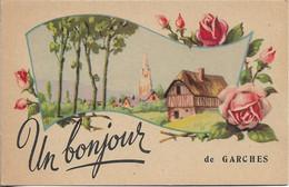 CP ILLUSTREE. 92 UN BONJOUR DE GARCHES.. - Garches