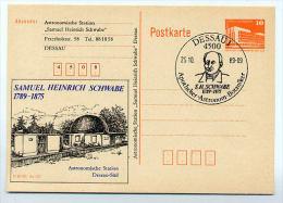 DDR P86II-46-89 C72 Privater Zudruck SAMUEL SCHWABE Astronomische Station Dessau Sost. 1989 - Privatpostkarten - Gebraucht