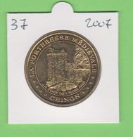 37 Chinon - La Forteresse Médiévale - La Tour De L'Horloge 2007 Monnaie De Paris - 2007
