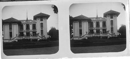 Lot 58 Plaques De Verre Photo Stéréo Positives Asie Cambodge Prey Veng Phnom Penh Circa 1920 GF - Old (before 1900)