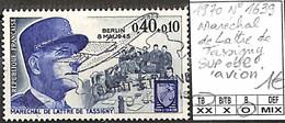[849232]TB//O/Used-France 1970 - N° 1639, Maréchal De LAttre De Tassigny Sur Obl 'AVION' - Usati