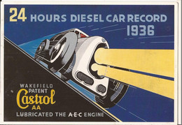 Transports Automobile Voitures Anciennes De Collection 24 Hours Diesel Car Record 1936 Wakefield Patent Castrol AA - Passenger Cars