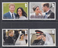 2018 British Virgin Islands Royal Wedding Harry  Complete Set Of 4 MNH @ BELOW FACE VALUE - British Virgin Islands