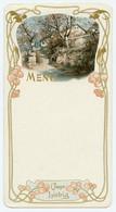 Menu Publicitaire Liebig Dimensions 16,5X 21,0cm. Décor De Frises Art Nouveau Circa 1900. - Menus