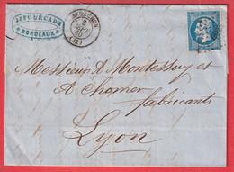 N°14 PC 4025 ARCACHON GIRONDE POUR LYON - 1849-1876: Klassik
