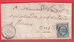 N°22 GC 3414 SIMORRE GERS CAD TYPE 22 BOITE RURALE E POUR FLEURANCE INDICE 12 - 1849-1876: Klassik