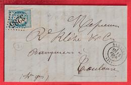 N°46A BLEU CLAIR GC 3285 SAMATAN GERS TOULOUSE HAUTE GARONNE - 1849-1876: Klassik