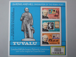 Tuvalu, Sir Rowland Hill, 2345-47, 1980 * - Tuvalu