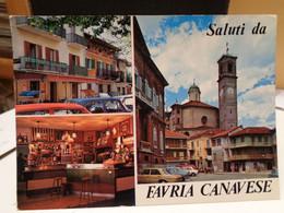 Cartolina Favria Canavese Prov Torino  Vedutine, Chiesa, Campanile - Andere