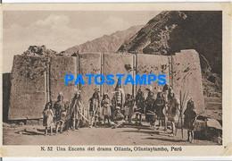 160966 PERU OLLANTAYTAMBO COSTUMES NATIVE OLLANTA POSTAL POSTCARD - Peru