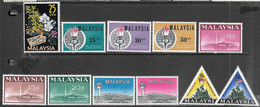 Malaysia  1963-6  11 Diff Including 4 Sets MLH   2016  Scott Value $6.50 - Malaysia (1964-...)
