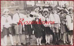 Foto Fotokaart 1938 Schipperschool Klein Willebroek Suikerbakkerij St Sint-Niklaas Schoolfoto Klasfoto - Willebroek