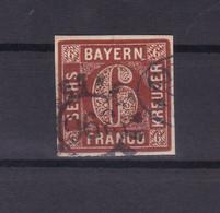 Ziffer 6 Kr. Mit Mühlradstempel 396 (= Würzburg) - Bavaria