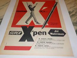 ANCIENNE  PUBLICITE  SUPERX PEN DE JIF WATERMAN 1960 - Other