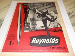 ANCIENNE PUBLICITE ECRIVEZ EN SOUPLESSE STYLO REYNOLDS 1960 - Other