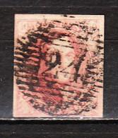 8  Médaillon Non Dentelé - Margé - Oblit. P24 BRUXELLES - LOOK!!!! - 1851-1857 Medaillen (6/8)
