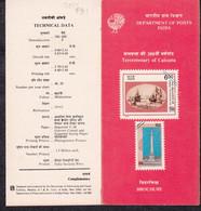 INDIA, 1990, Calcutta Tercentenary, Octorlony Monument, Ships On The River Ganges, Folder (Brochure). - Brieven En Documenten