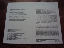 """Doodsprentje/Bidprentje DANNY BRUYSTENS Beveren1968-1988 Burcht Ongeval Sold-milicien Munitie-arsenaal """"FKB""""Zwijndrecht - Religion & Esotericism"""
