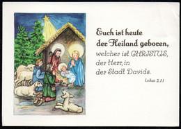 6712 - Glückwunschkarte Weihnachten - Weihnachtskrippe Krippe - Verlag Schäfer - Non Classés