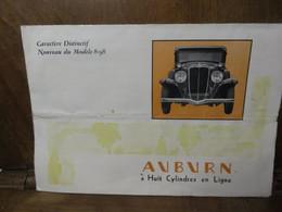 Publicité Ancienne Voiture Phaeton Sedan Brougham 5 Places Auburn 8 Cyl En Ligne USA INDIANA - Publicités