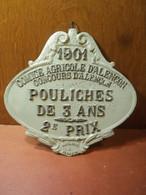 Ancien Prix Concours Agricole D'Alençon 1901 Pouliches De 3 Ans Deuxième Prix - Autres