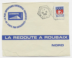 N° 1354B LETTRE C. HEX PERLE MUSSIDAN (DORDOGNE) CP N°2 21.9.1965 SOURZAC - Manual Postmarks