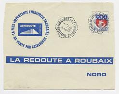 N° 1354B LETTRE C. HEX PERLE TERASSON LAVILLEDIEU CP2 6.7.1966 DORDOGNE LADORNAC - Manual Postmarks