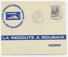 COQ DECARIS 30C LETTRE C. HEX PERLE 80 ST VALERY CP N°7 22.3.1967 SOMME FRANLEN - Manual Postmarks