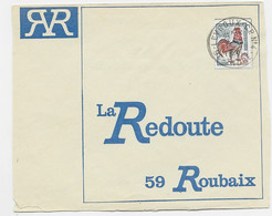 COQ DECARIS 30C LETTRE CACHET PLASTIQUE 36 LEVROUX C P N° 4 1967 LA COMBE RARE - Manual Postmarks