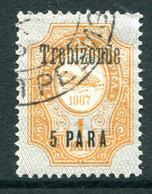 Russia Levant 1909-10 Trebizonde - 5pa On 1k Orange - Black O/P - Used (SG 136) - Levant