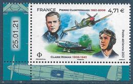 PA 85 Pierre Clostermann / Claire Roman Coin Daté Du Feuillet De 12 Timbres (2021) Neuf** - 1960-.... Postfris