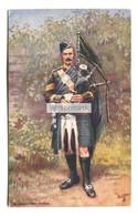 A Highland Piper, Scotland Military - Tuck Postcard No. 9762, Used In 1917 - Regimenten