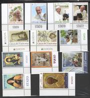 2020 - VATICANO - SAH - ANNATA - 20 FRANCOBOLLI - 6 FOGLIETTI - ** - Unused Stamps