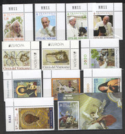 2021 - VATICANO - SAG - ANNATA - 20 FRANCOBOLLI - 6 FOGLIETTI - ** - Unused Stamps