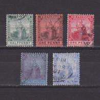 TRINIDAD 1904, SG #133-137, Part Set, Used - Trinité & Tobago (...-1961)