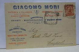 CHIUSI  -- SIENA  ----.  GIACOMO  MORI  -- VINI E OLII  TOSCANI - Siena