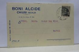 CHIUSI  -- SIENA  ---  BONI ALCIDE - Siena