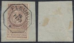 """Fine Barbe - N°61 Sur Fragment Obl Télégraphique """"Fleurus"""". Luxe ! - 1893-1900 Fine Barbe"""