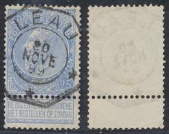 "Fine Barbe - N°60 Obl Télégraphique ""Leau"". TB - 1893-1800 Fijne Baard"