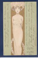 CPA Kirchner Raphael Art Nouveau Femme Woman écrite Gaufré Embossed Voir Dos - Kirchner, Raphael
